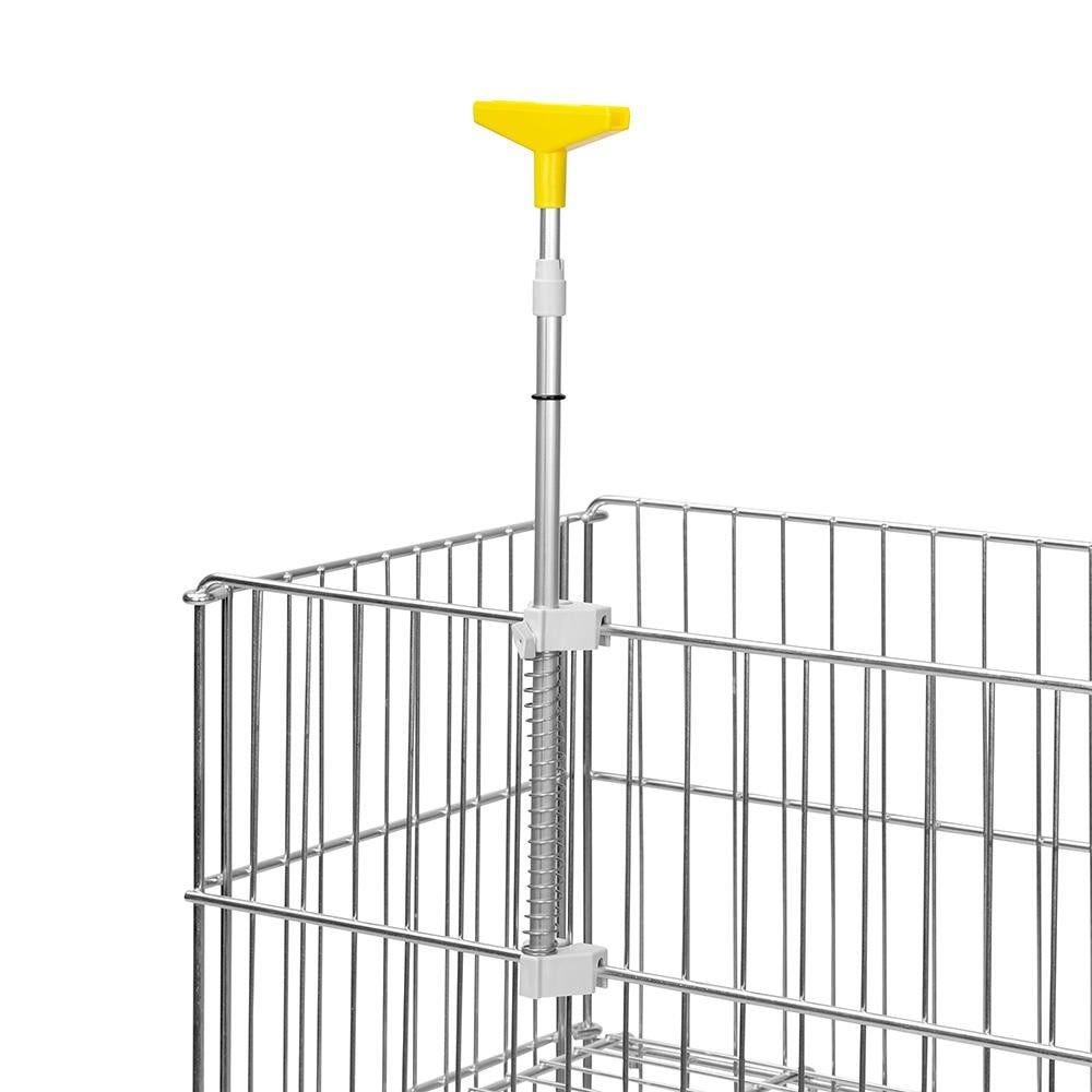 Porte-affiches ''dk iv'' jaune - tube telescopique - par 5