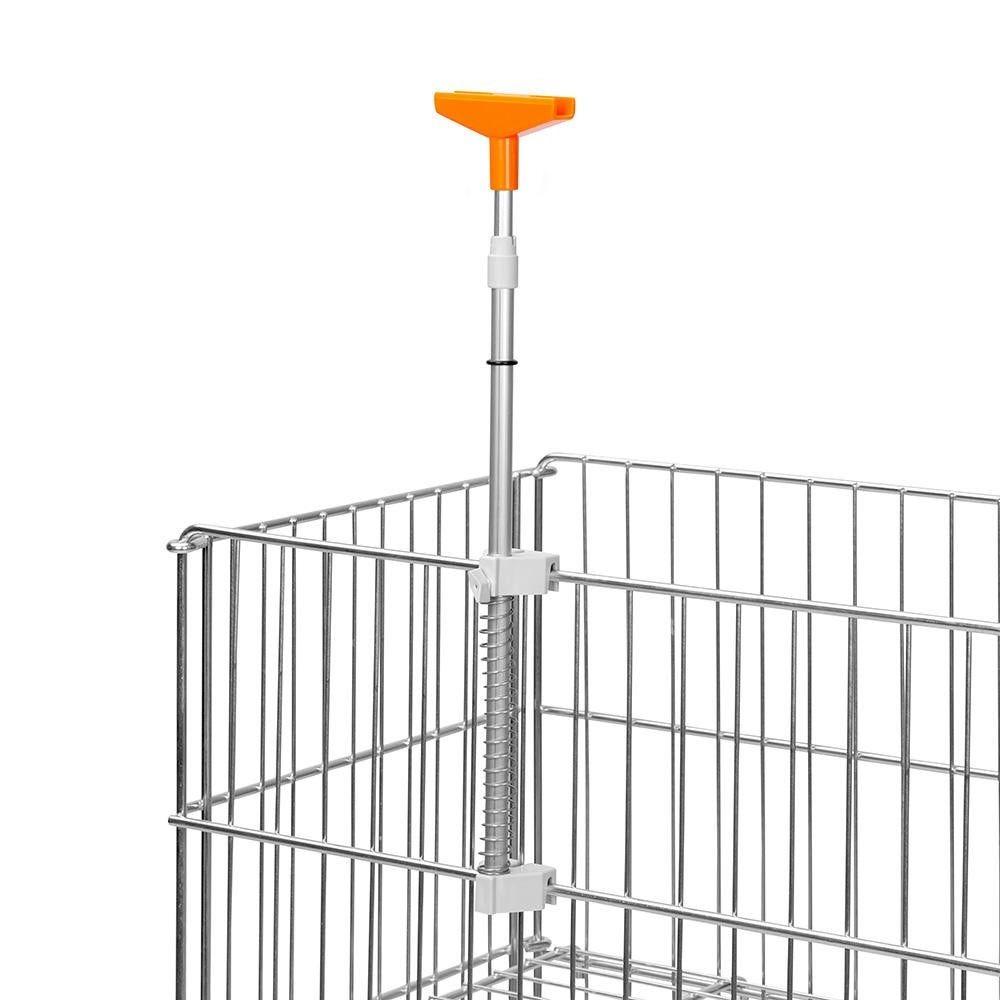 Porte-affiches ''dk iv''orange - tube telescopique - par 5