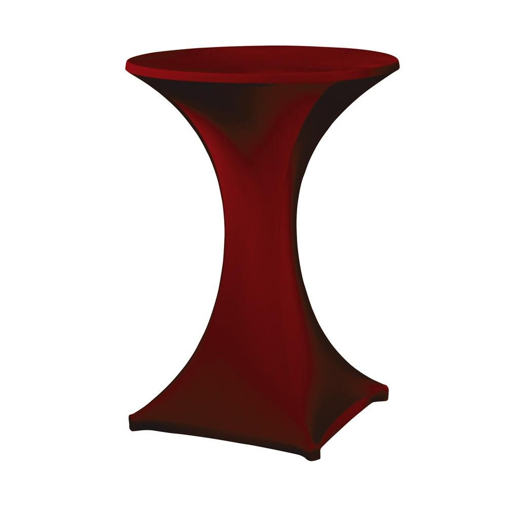 Housse pour table haute ''galactica'' bordeaux, table haute de diam. Max 850 mm (photo)