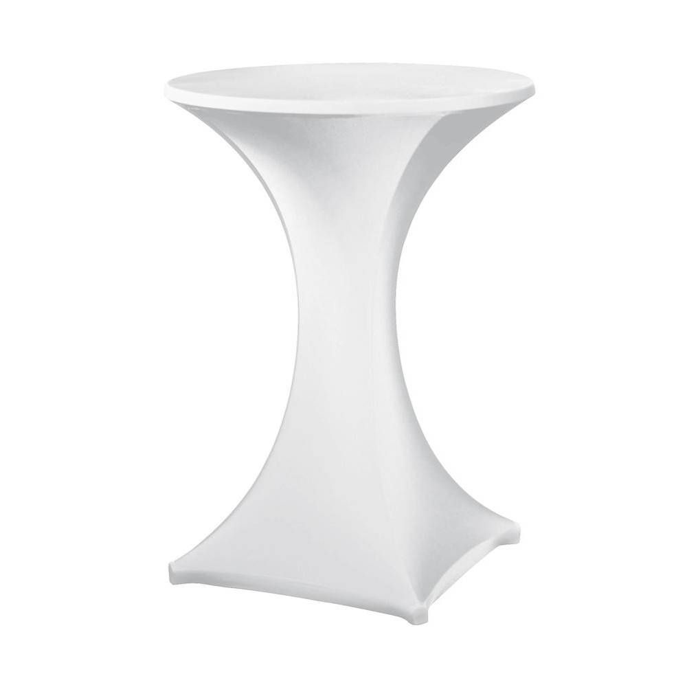 Housse pour table haute ''galactica'' blanc, table haute de diam. Max 850 mm (photo)