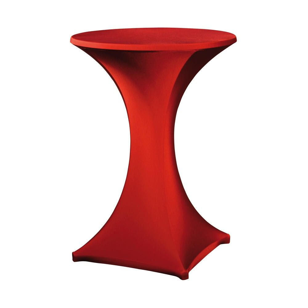 Housse pour table haute ''galactica'' rouge, table haute de diam. Max 850 mm (photo)