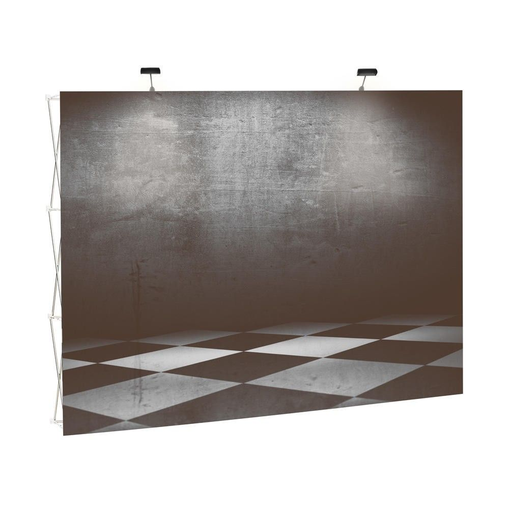 Mur de stand ''fabric'' pliable, avec impression textile inclus 2.300 mm (photo)