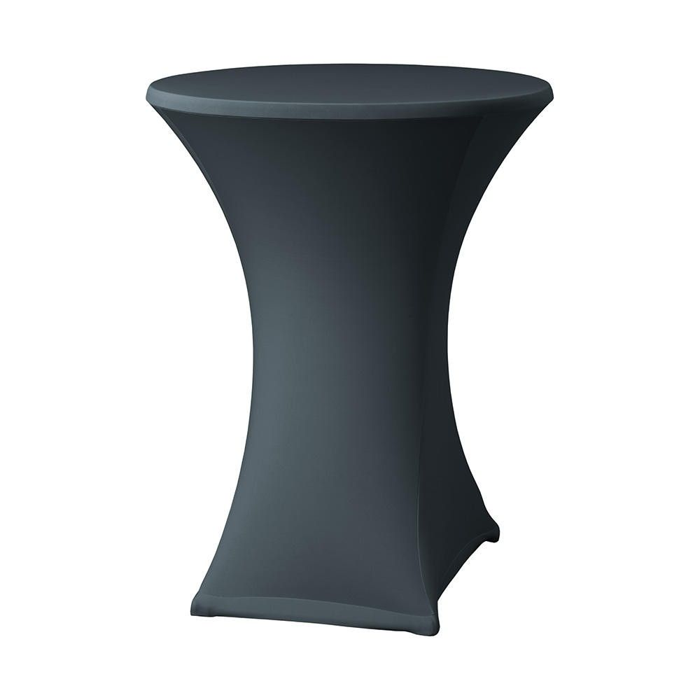 Housse table haute ''samba'' avec habillage plateau h800 - 850 mm anthracite (photo)