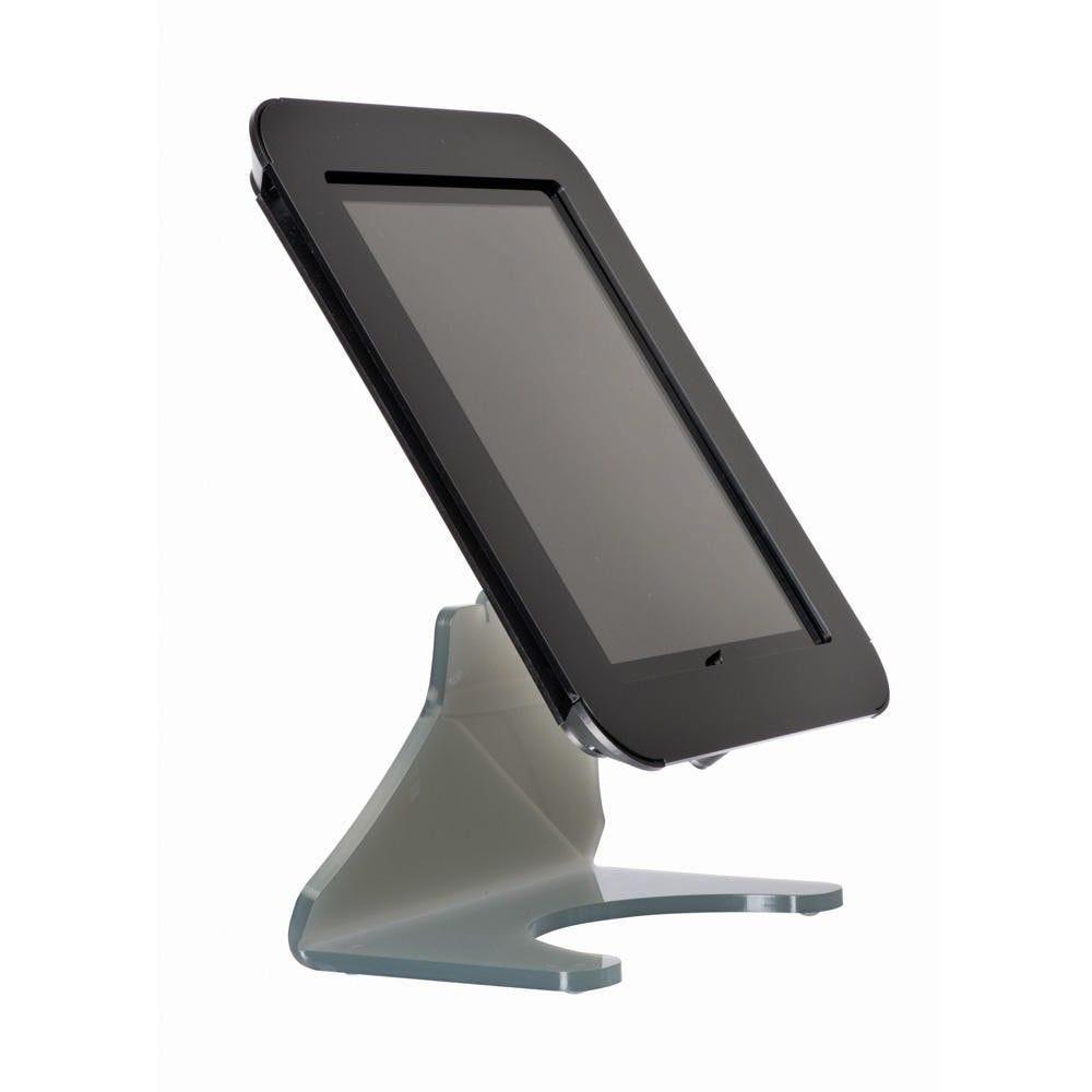 Borne de table ''desktop'' pour ipad 2 et 3 blanc (photo)