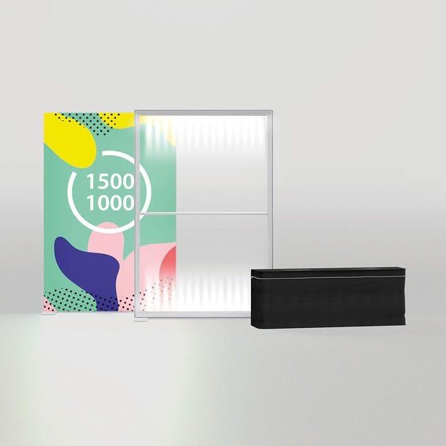 Mur LED ''Pixlip Go Lightbox'' avec impression recto inclus-2000x2000 mm