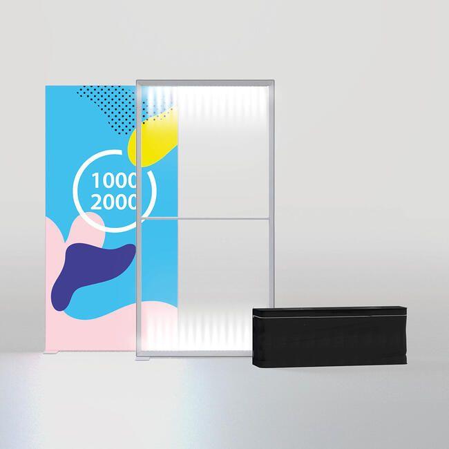 Mur LED ''Pixlip Go Lightbox'' avec impression recto/verso inclus-2000x2000 mm