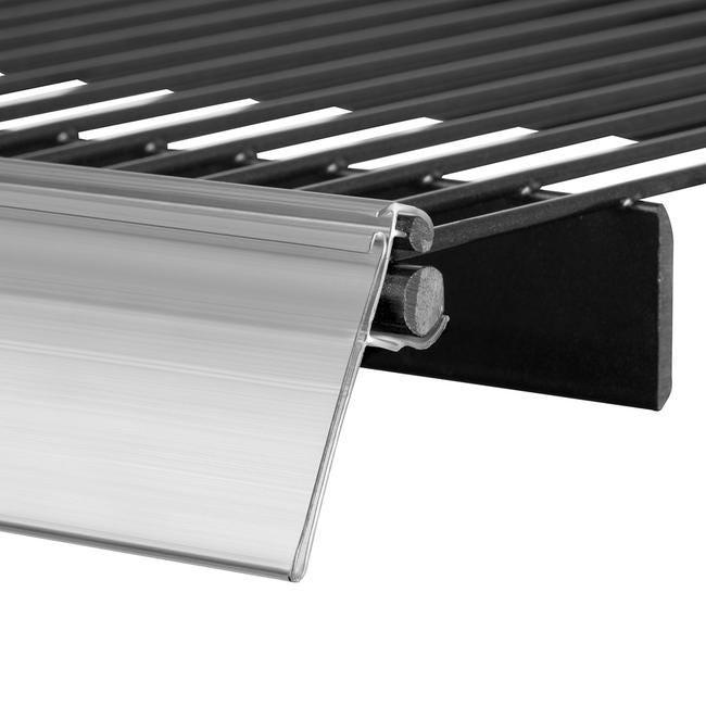Porte-étiquette ''WWT'' 39 mm transparent – Longueur 1000 mm – Lot de 5 pièces