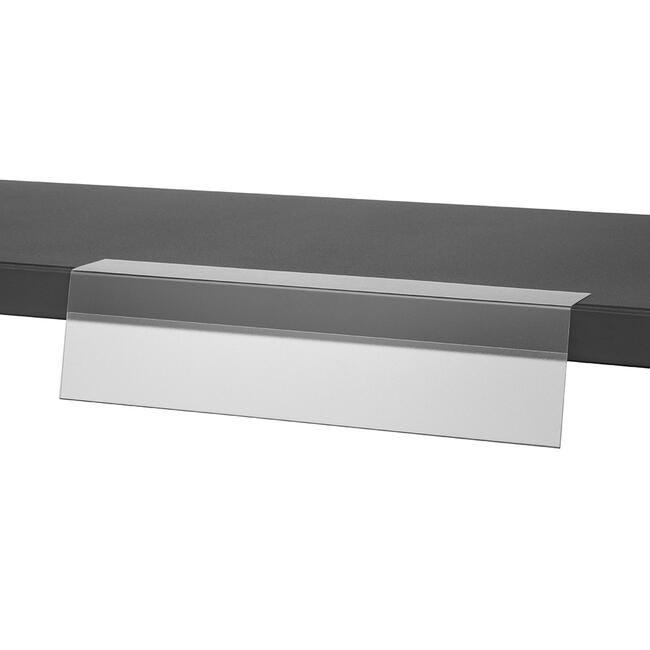 Rail Porte-étiquette antireflet à coller-Dimension : 297x73 mm-Lot de 20 pièces
