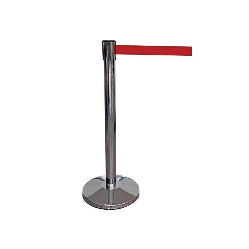Séparateur Poteau de guidage balisage avec enrouleur rouge - par 1