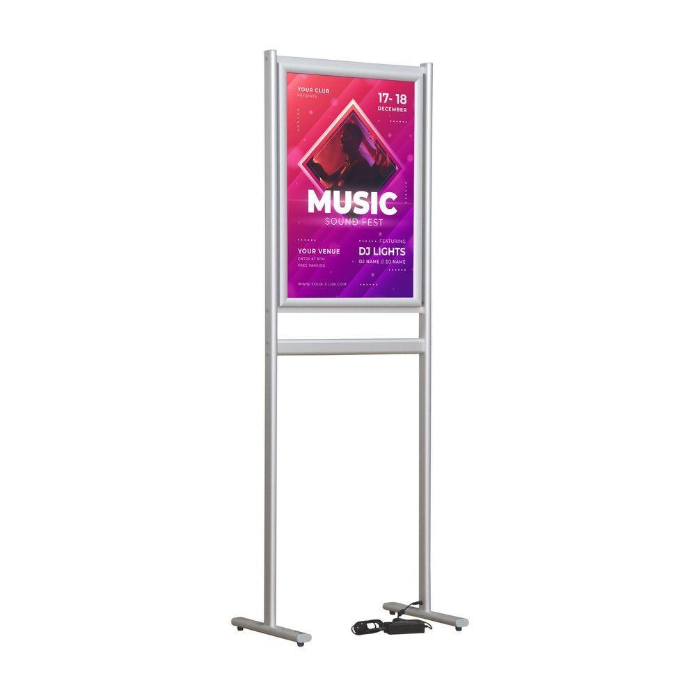 Porte-affiche led classique double-face  A1