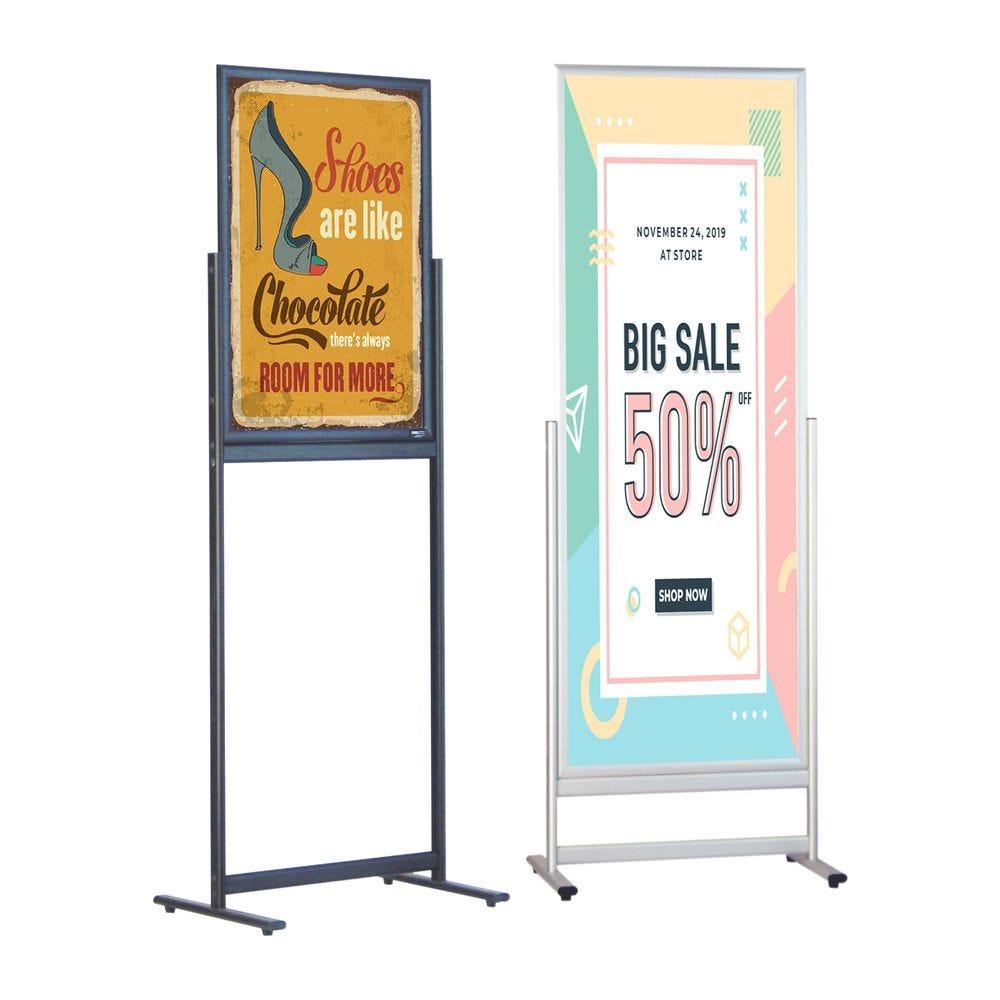 Porte-affiche de sol simple-face 500x1400
