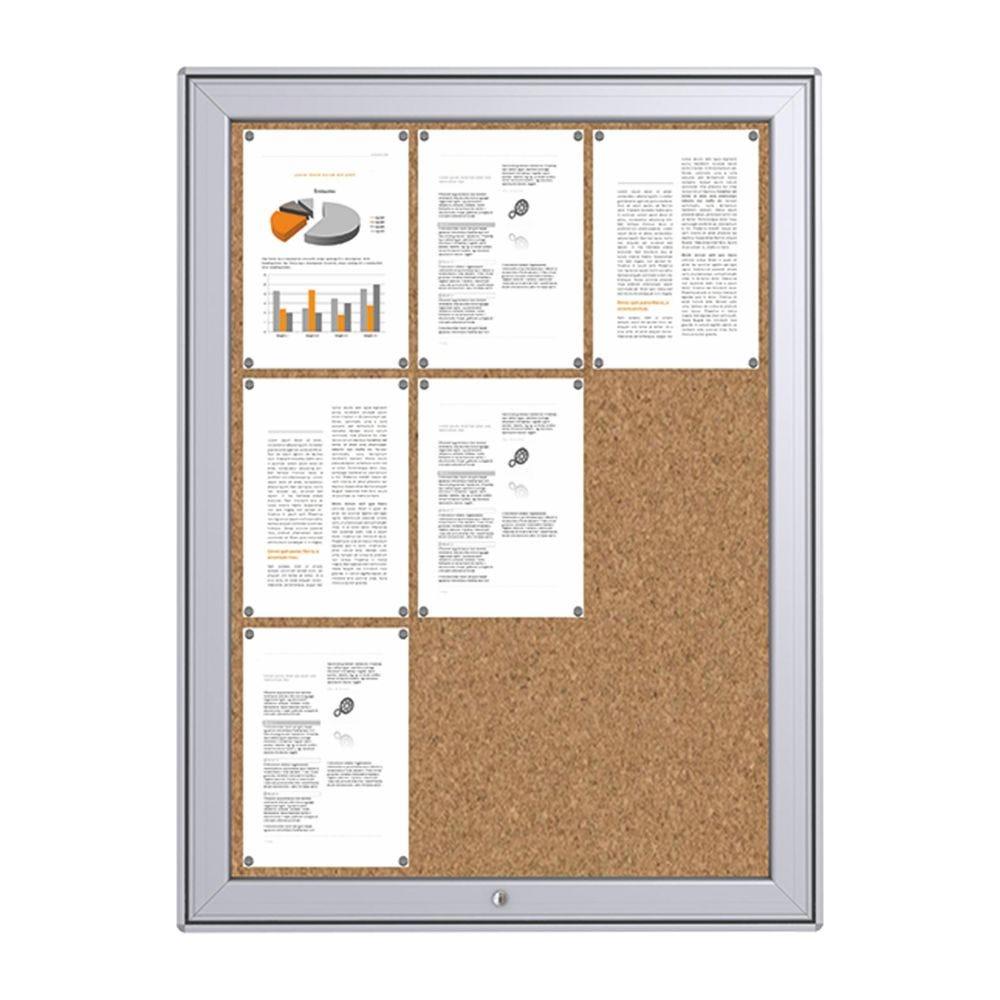 Vitrine d'affichage maxi fond liège12 A4
