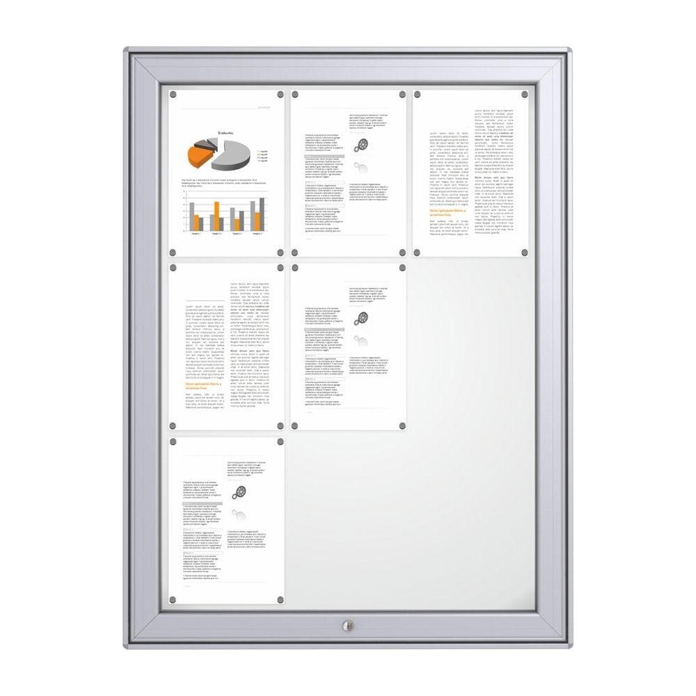 Vitrine d'affichage maxi fond métal magnétique12 A4