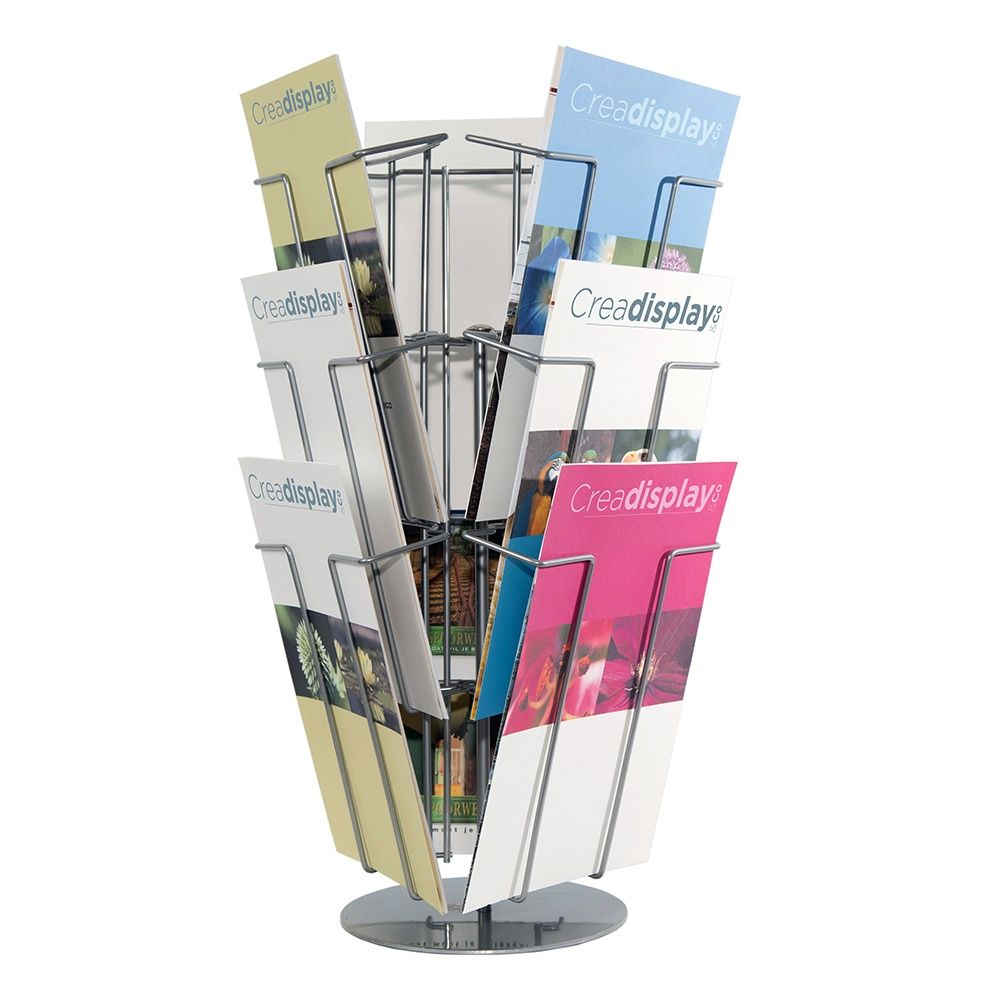 Porte-brochures rotatif de comptoir 9 compartiments format A4