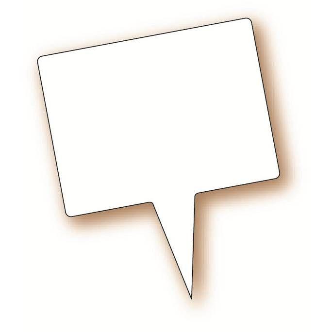 Etiquette simple avec pique plastique intégré 'NEUTRE' blanc 8x6cm par 10