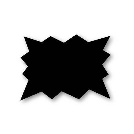 Etiquette éclatée sans attachement 'NEUTRE' noir 15x10cm x25