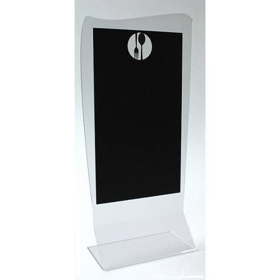 Présentoir de table 'FUNNY' Couverts noir 10x20cm par 3