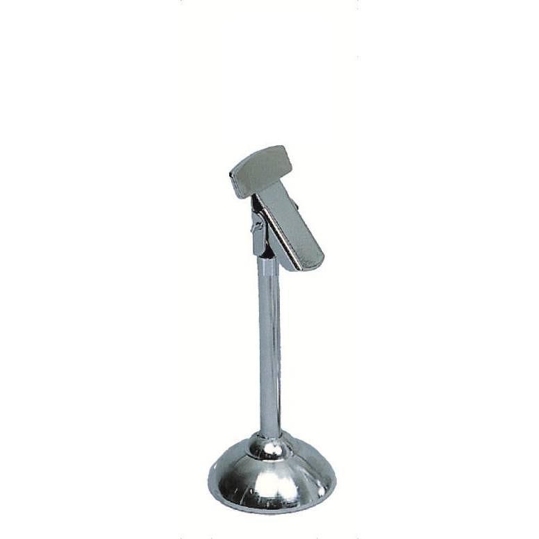 Pied-tube chromés à pince hauteur 7cm gris par 3