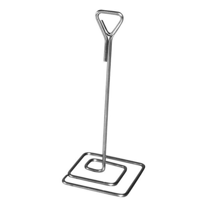 Pied-inox electropoli porte-étiquette hauteur 15cm Inox par 3