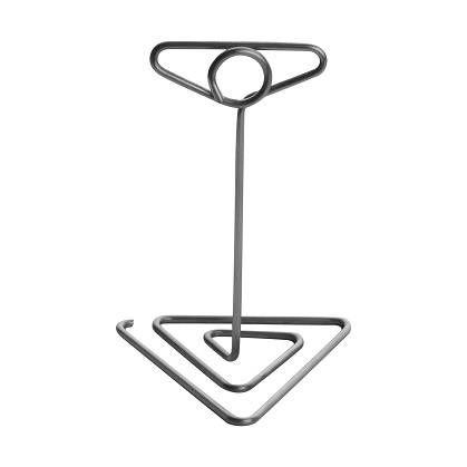 Pied-inox electropoli porte-étiquette 10cm avec base triangulaire par 3