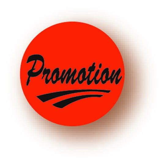 Etiquette adhésive en papier Promotion rouge diamètre 3,6cm par 500
