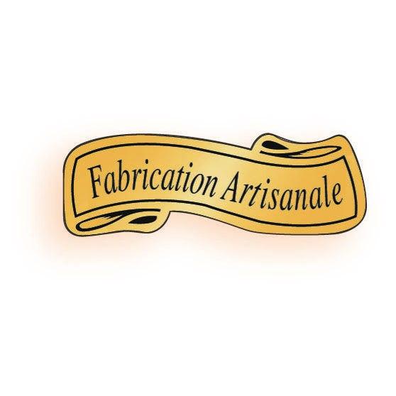 Etiquette adhésive en papier adhésif Fabrication artisanale or 3,6x1,3cm par 500