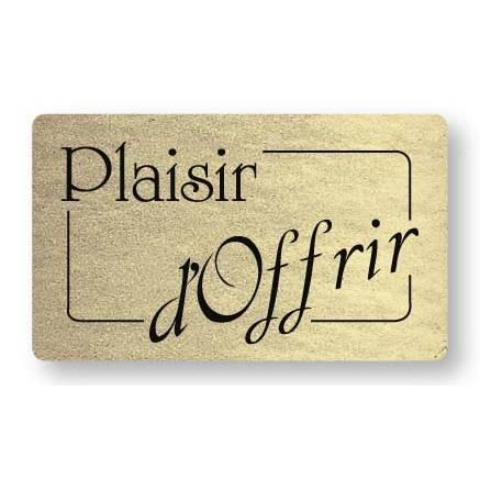 Etiquette adhésive en papier Plaisir d'offrir Or 3,2x1,9cm par 500