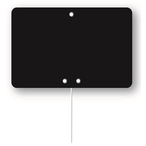 Etiquette simple ardoisée pique-inox 'ARDOISE' 13,5x9,5cm par 10