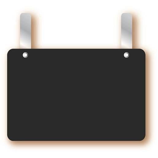 Etiquette simple ardoisée petites pattes 'ARDOISE' 13,5x9,5cm par 10