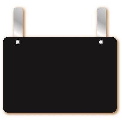 Etiquette simple petites pattes 'NEUTRE' noir 13,5x9,5cm par 10
