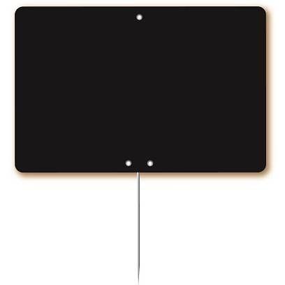 Etiquette simple ardoisée pique-inox 'ARDOISE' 20x15cm par 10