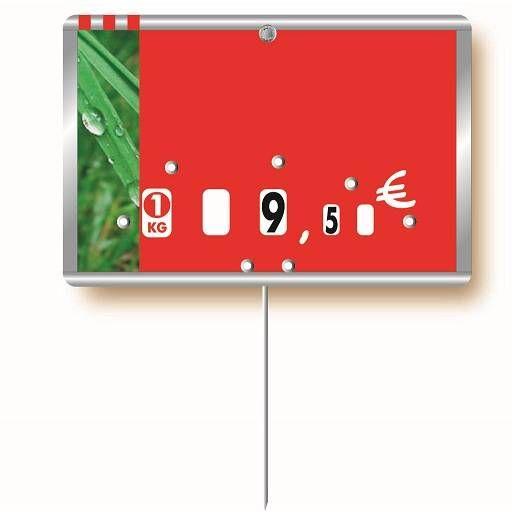 Etiquette à roulettes pique-inox option disc-info 'METALLIC' 12x8cm par 10