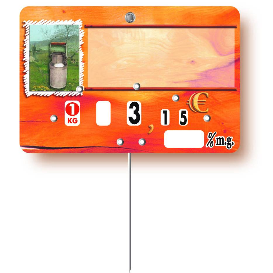 Etiquette à roulette pique-inox option disc-info 'PAPRIKA' 10,5x7cm par 10