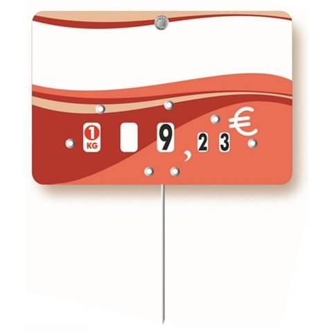 Etiquette à roulettes pique-inox 'EVASION' 10,5x7cm par 10