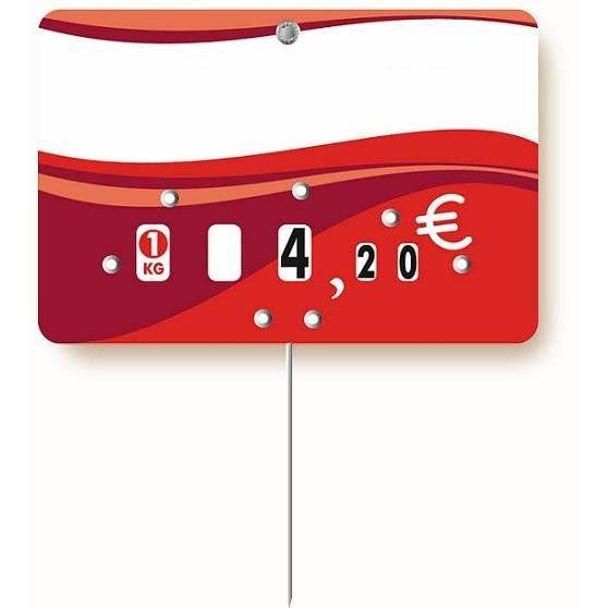 Etiquette à roulettes pique-inox option disc-info 'EVASION' 13,5x9,5cm par 10