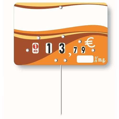 Etiquette à roulette pique-inox option disc-info 'EVASION' 20x15cm par 10
