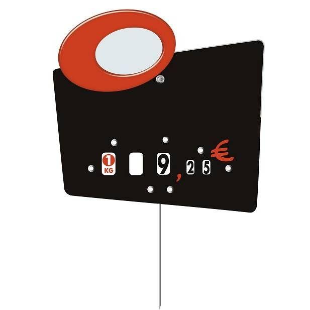 Etiquette à roulettes pique-inox option disc-info 'GALAXY' 13,5x9,5cm par 10