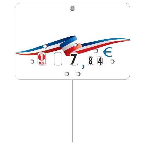 Etiquette à roulette pique-inox 'BBR' neutre multicolore 10,5x7cm par 10