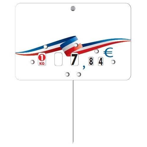 Etiquette à roulette pique-inox 'RUBAN BBR' neutre multicolore 12x8cm par 10