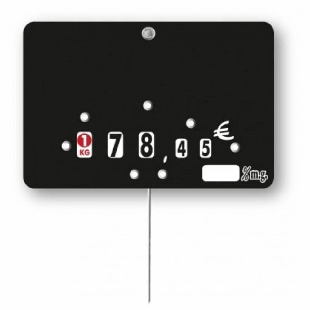 Etiquette à roulette pique-inox option disc-info 'NEUTRE' % mg 10,5x7cm par 10