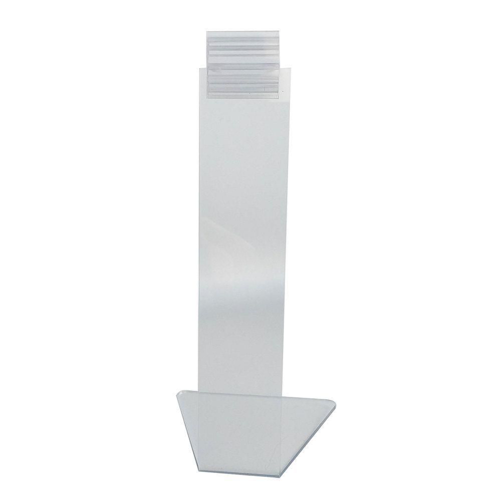 Pied porte-étiquette 15cm 'PIED' transparent par 25