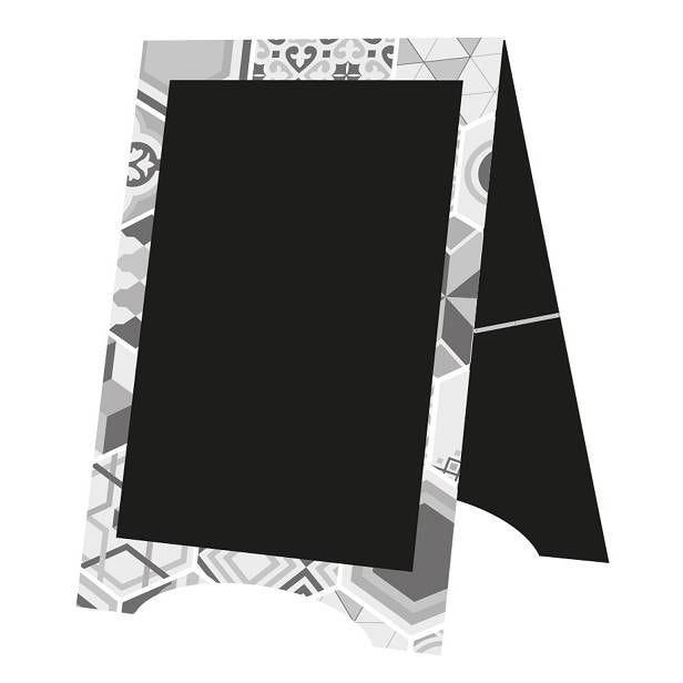 Chevalet de trottoir 'PARIS' blanc 59x95cm à l'unité