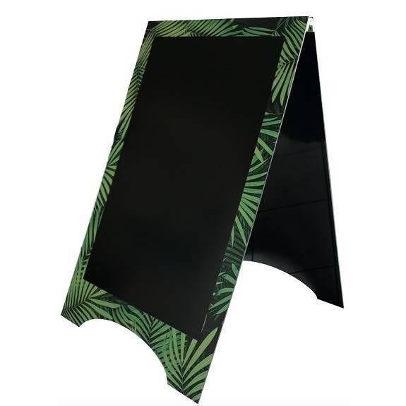Chevalet de trottoir 'JUNGLE' vert 59x95cm à l'unité