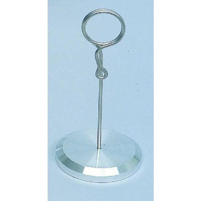 Pied porte étiquettes à pique de 10cm, à ressort, avec socle lourd. inox par 3