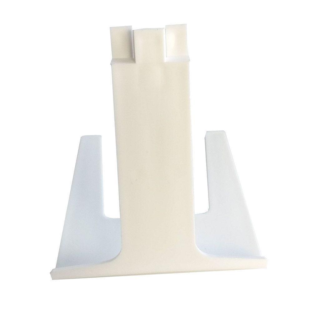 Pied porte-étiquette à pique inox hauteur 5,5cm blanc par 25