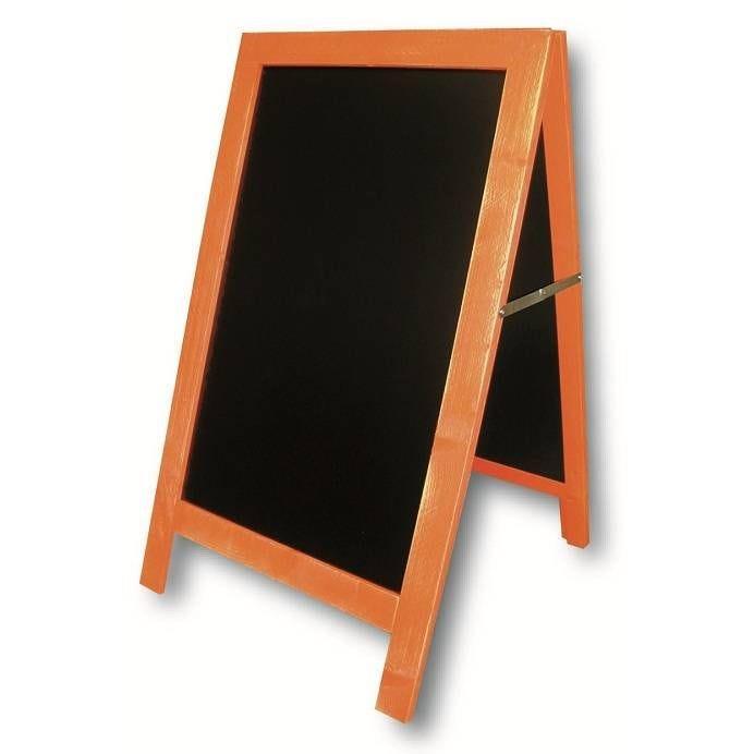 Chevalet de trottoir 'CARNAVAL' cérusé orange 54x93cm à l'unité