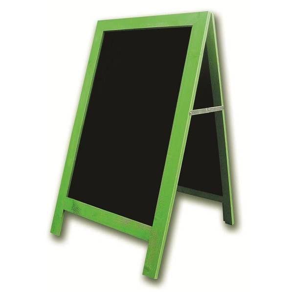 Chevalet de trottoir 'CARNAVAL' cérusé vert anis vert 54x93cm à l'unité