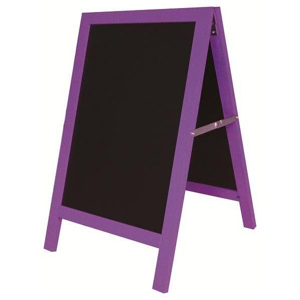 Chevalet de trottoir 'ARLEQUIN' violet noir petit modèle (50x80cm) à l'unité