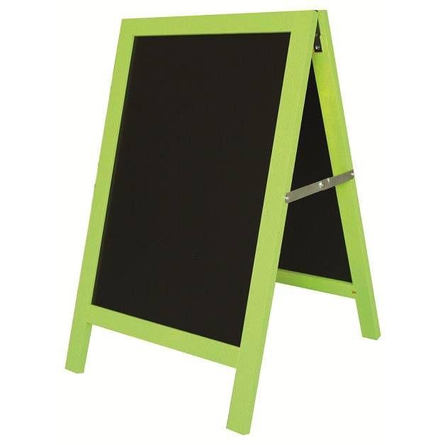 Chevalet de trottoir 'ARLEQUIN' vert noir petit modèle (50x80cm) à l'unité
