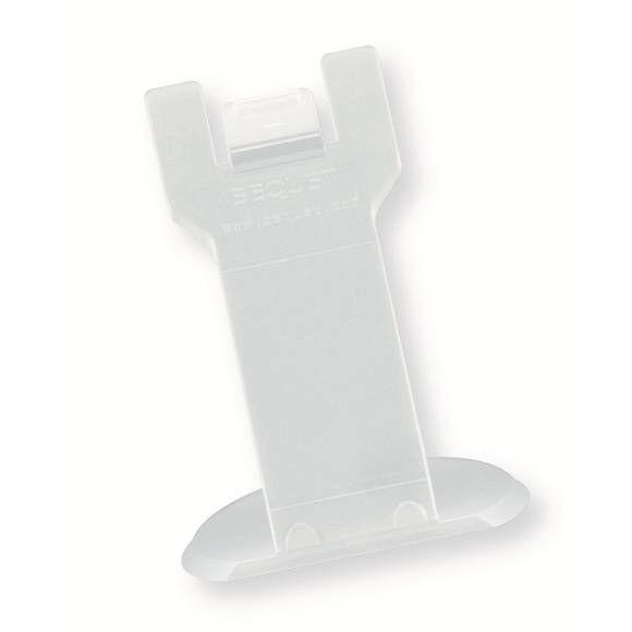 Pied porte-étiquette hauteur 4cm noir à l'unité